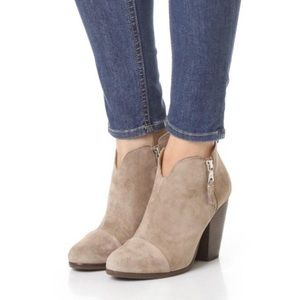 RAG & BONE Taupe Margot Booties Ankle Boots Suede